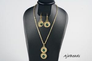 Arabská noc - zeleno-zlatá - malý set