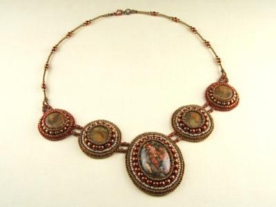 Barokní náhrdelník s jaspisem