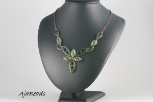 Elfka - zelená - náhrdelník