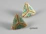 Náušnice - trojúhelníkové malé - zelené