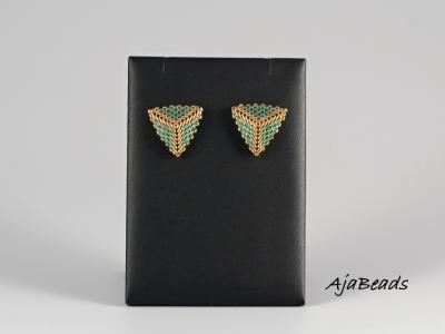 Trojuhelniky listy zelene nausnice 1.jpg